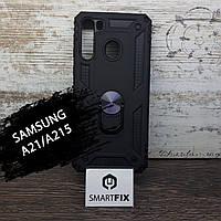 Силіконовий чохол для Samsung A21S / A217 Full Soft Пісочно-рожевий, фото 1