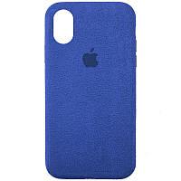 "Чехол ALCANTARA Case Full для Apple iPhone XR (6.1"") Синий"