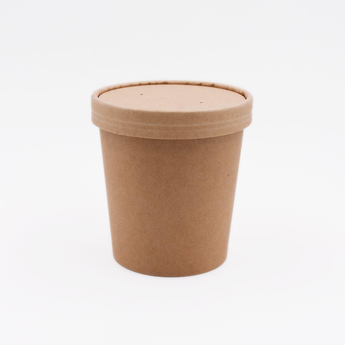 Супник еко-крафт, паперової кришкою, 360 мл, 25 шт/уп.