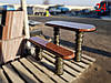 Скамейка и стол с фигурной вырезкой