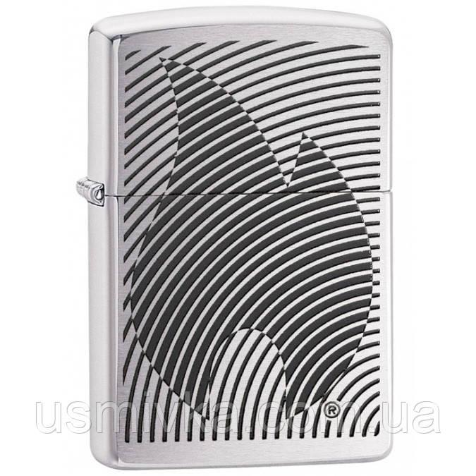 Зажигалка Zippo 29429 Illusion Flame Stripes Brushed Chrome
