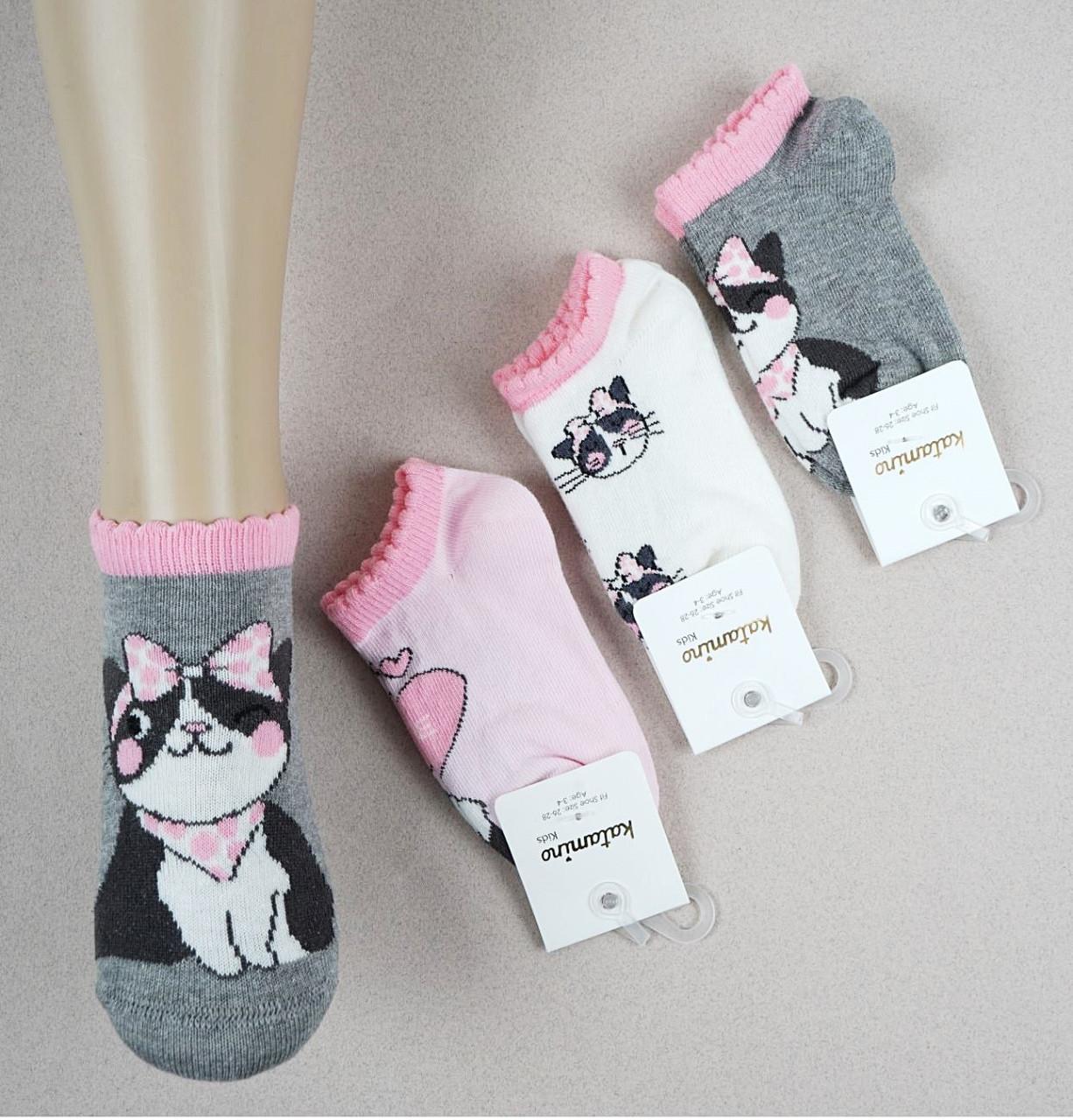 Носки хлопковые 7-8 лет для девочек ТМ Katamino