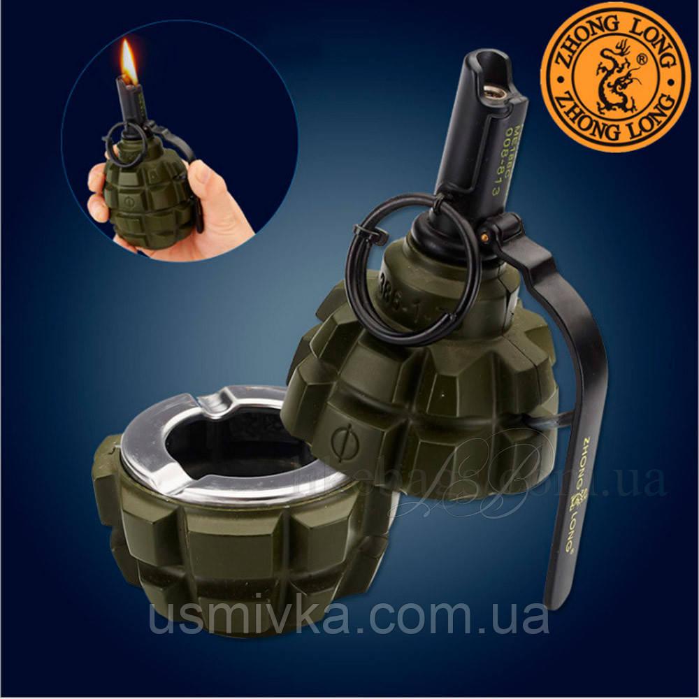 Пепельница с зажигалкой Ручная Граната камуфляж. PP224840