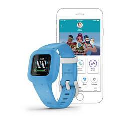 Дитячий фітнес-годинник Garmin Vivofit jr.3 Blue Stars на блакитному ремінці