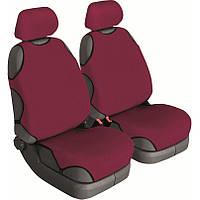 Авточехлы майки для передних сидений Beltex COTTON Бордовые