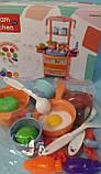 Кухня кукольная, плита, мойка-льется вода, Dream Kitchen 20 предметов, с эффектами света и звука, 768-3-4, фото 4