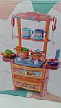 Кухня кукольная, плита, мойка-льется вода, Dream Kitchen 20 предметов, с эффектами света и звука, 768-3-4, фото 3