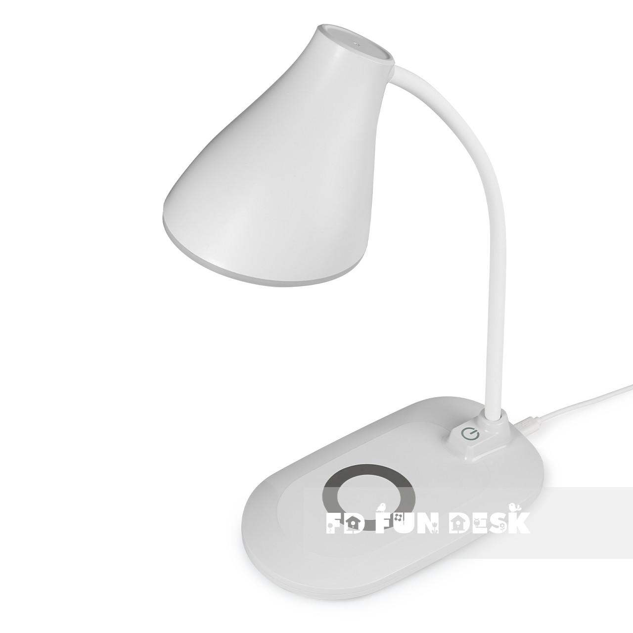 Лампа настільна світлодіодна з функцією бездротової зарядки Fundesk LC6 White