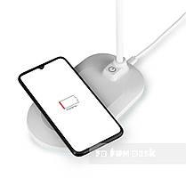 Лампа настільна світлодіодна з функцією бездротової зарядки Fundesk LC6 White, фото 3
