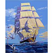 """Набір для розпису по номерах VA-0021 """"Корабель з білими вітрилами"""" , розміром 40х50 см"""