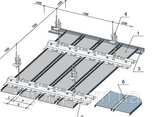 Купить реечный потолок немецкого дизайна