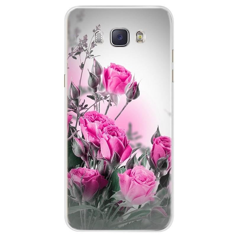 Чехол Print для Samsung J7 2016 J710 J710H силиконовый бампер Roses pink