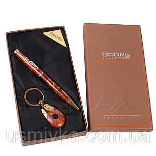 Набор подарочный шариковая ручка, брелок с фонариком 395511