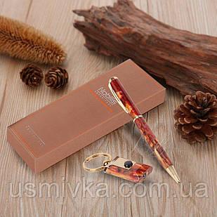 Подарочный набор из 2-ух предметов брелок с фонариком, шариковая ручка 395512