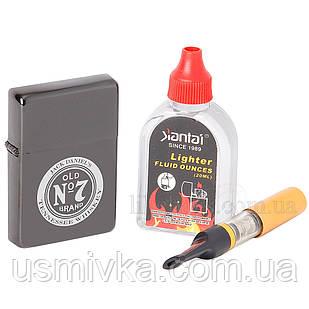 Уникальная зажигалка с лазерной гравировкой в подарочном боксе с мундштуком и бензином 644600