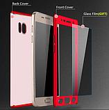 3D Чехол бампер 360° Xiaomi Redmi 6a противоударный + СТЕКЛО В ПОДАРОК. Чохол сяоми редми 6а ЦВЕТ ЗОЛОТО, фото 2