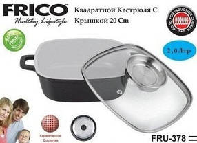 Казан-жаровня FRICO FRU-379 24 см, 3.5 л, фото 3