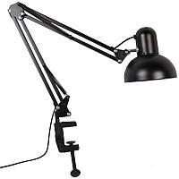 Лампа настольная со струбциной мощность 60 Ватт Черная