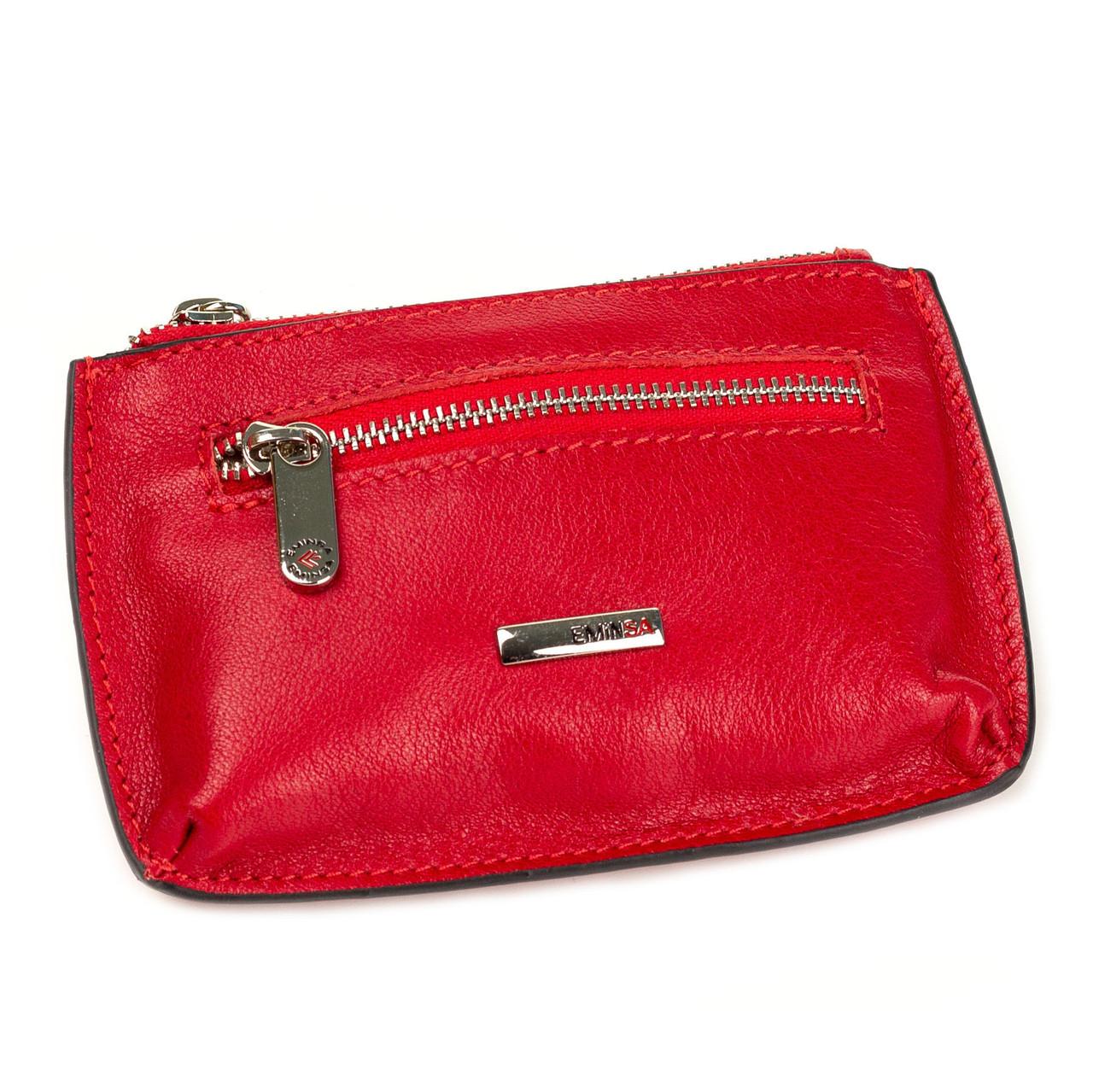 Міні гаманець шкіряний Eminsa 1604-18-5 червоний