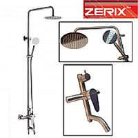 Душевая колонна ZERIX LR72402 ( нержавейка)