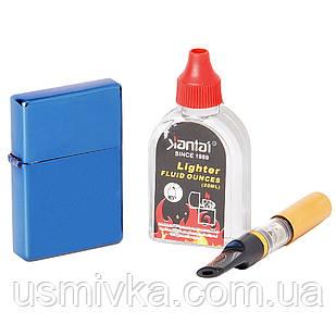 Универсальная зажигалка в подарочном боксе с мундштуком и бензином 33482