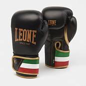 Боксерські рукавички Leone Italy Black 10 ун.