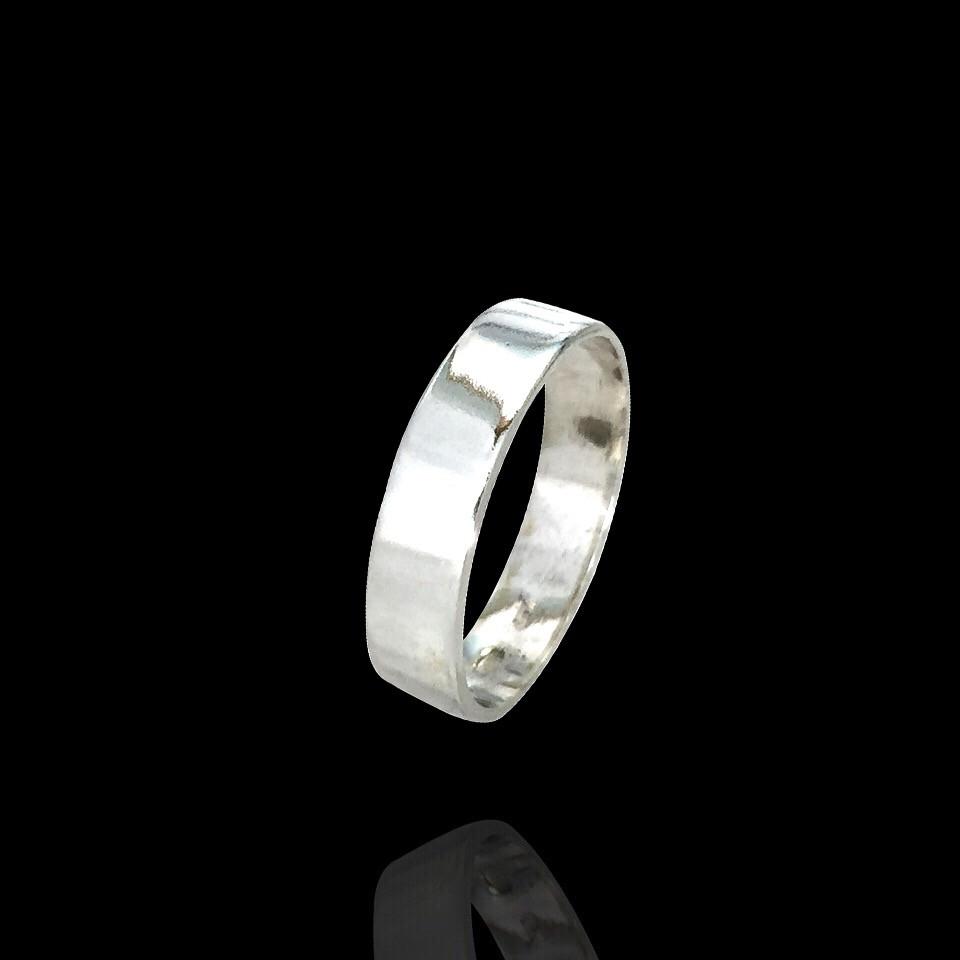 Серебряное женское обручальное кольцо Американка