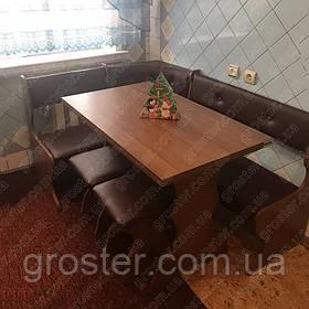 Кухонный уголок Принц с раскладным столом и 2 табурета