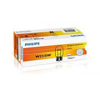 Лампа розжарювання Philips W21/5W, 12066CP 10шт/картон