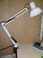 Лампа настольная со струбциной мощность 60 Ватт Белая