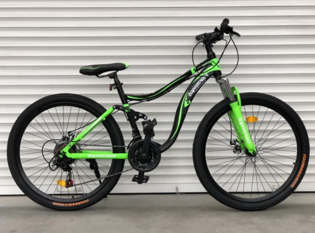 Двухколесный горный спортивный велосипед 26 дюйма Toprider 910 салатовый