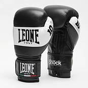 Боксерські рукавички Leone Shock Black 10 ун.