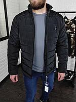 Куртка мужская демисезонная Puma (Пума) весенняя осенняя до 0*С черная | Утепленная ветровка ТОП качества