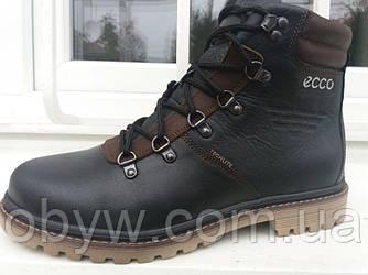 Чоловічі зимові шкіряні черевики на овчині boots 40-45