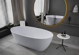 Ванна отдельностоящая из мрамора Miraggio Estella белая глянцевая