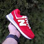 Жіночі кросівки New Balance 574 (червоні) 20252 замшеві туфлі спортивні кроси, фото 9