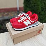 Жіночі кросівки New Balance 574 (червоні) 20252 замшеві туфлі спортивні кроси, фото 6