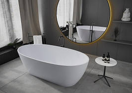 Ванна отдельностоящая из мрамора Miraggio Estella белая матовая