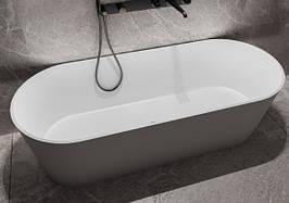 Ванна отдельностоящая из мрамора Miraggio Providence белая матовая