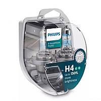 Лампа галогенна Philips H4 X-treme Vision Pro 150 +150% 60/55W P43T 12V 12342XVPS2 (2 шт)