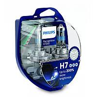 Лампа галогенна Philips H7 RacingVision GT200 +200% 12V 55W 12972RGTS2 (2 шт), Лампа, галогенна, Philips, H7, RacingVision, GT200,