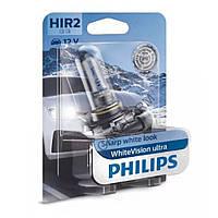 Лампа галогенна Philips HIR2 WhiteVision ultra +60% 12V (3700K) B1 9012WVUB1, Лампа, галогенна, Philips, HIR2, WhiteVision, ultra,