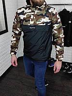 Ветровка мужская The North Face x Supreme весенняя осенняя камуфляжная   Куртка мужская Анорак ЛЮКС качества