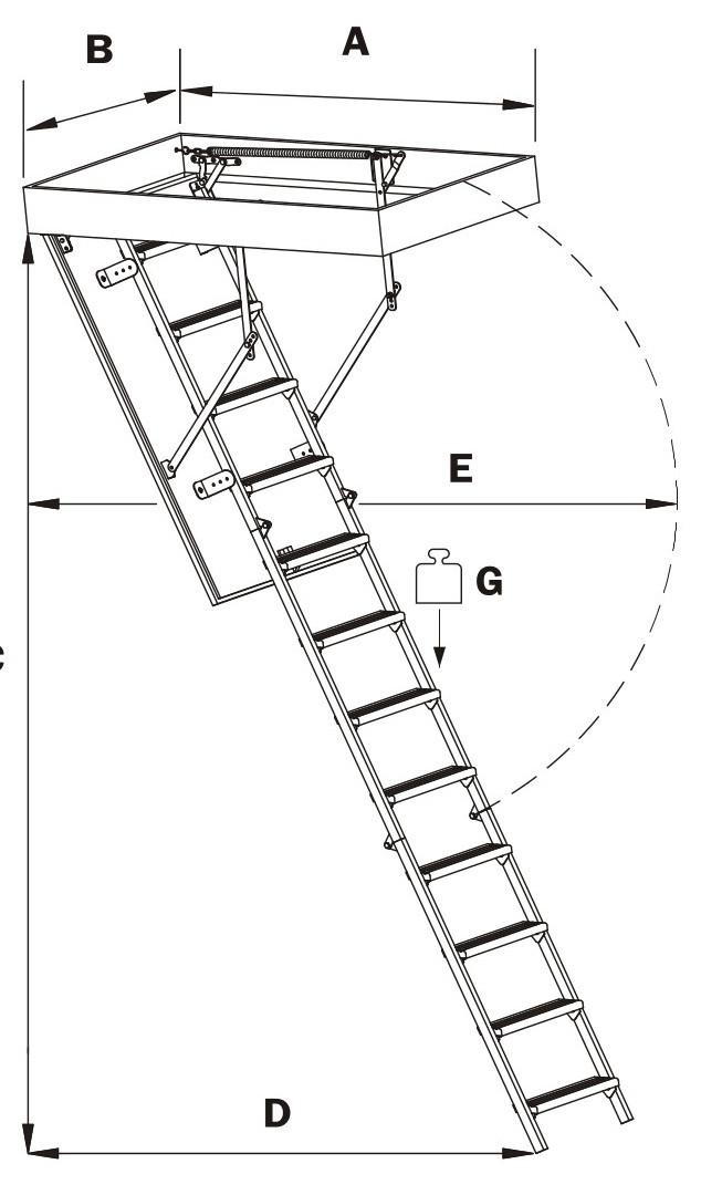 чердачные лестницы металлические оман | складная металлическая лестница