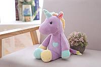 Плюшевая, декоративная игрушка Единорог разноцветная