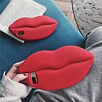Силиконовый чехол Красные губы iPhone 7/8 Plus