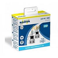 Лампи світлодіодні Narva H3 12/24v 6500K X2 18058 Range Performance, Лампи, світлодіодні, Narva, H3, 12/24v, 6500K, X2, 18058,