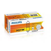 Лампа розжарювання Philips H21W, 10шт/картон 12356CP, Лампа, розжарювання, Philips, H21W,, 10шт/картон, 12356CP