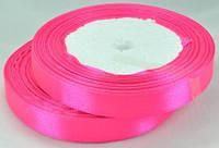 Стрічка атласна 1,2 см яскраво-рожева рулон 23м ЛА12-8