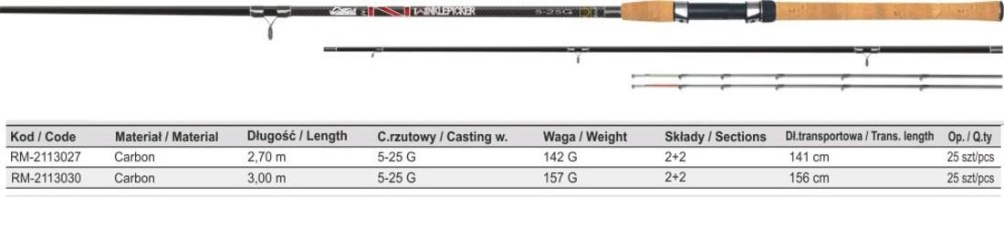 Удилище пикерное NAVIGATOR WINKLEPICKER 2,70M 5-25G MISTRALL